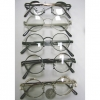 CLEAR LENS STEAMPUNK LOOK SUNGLASSES WITH SPRING ON ARMS