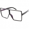CLEAR LENS RECTANGLE SHAPE LARGE FRAMES GLASSES