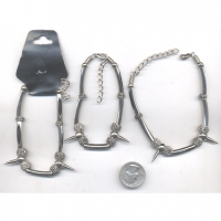 SPIKE AND BEAD METAL BRACELETS WITH TUBES