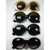 RETRO ROUND LENS OVAL LOOK JACKIE O SUNGLASSES