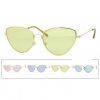 COLOR LENS COOL SHAPE METAL FRAMES SUNGLASSES