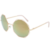 8 SIDED METAL FRAMES WITH LARGE ROUND LENS SUNGLASSES