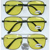 YELLOW LENS SQUARISH FRAMES AVIATORS, SPRING TEMPLE QUALITY