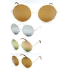 LARGE METAL ROUND FRAMES, WITH REVO LENS, GOLD FRAMES