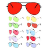AVIATORS COLOR LENS SUNGLASSES, SPRING TEMPLE QUALITY