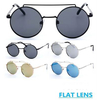 FLAT METAL FRAMES ROUND FRAMES TOP & MIDDLE BRIDGE, REVO LENS