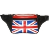 LEATHER FANNY PACK WITH U.K. FLAG