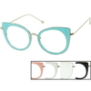 CLEAR LENS, CAT SHAPE, ASSORTED COLORS GLASSES