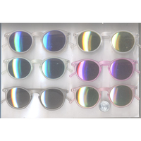 RETRO SUNGLASSES IN FROSTED COLOR FRAMES WITH REVO LENS