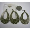 METAL BRONZE COLOR EARRINGS