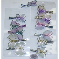 BUTTERFLY HAIR CLIPS  5 DIFFERENT STYLES
