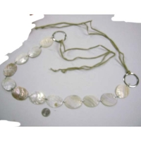 TIE UP SEA SHELL BELT WITH CORDS