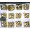 GOLD METAL MENS SIZE TUBE STYLE RINGS