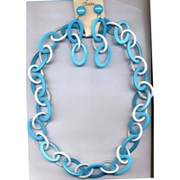 CHAIN LINK STYLE NECKLACE AND EARRINGS