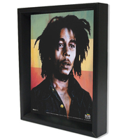 BOB MARLEY RASTA COLOR BACKGROUND SHADOW BOX