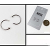 2 SMALL THIN BASIC LOOP NOSE CLIPS PER CARD