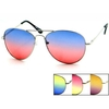 AVIATORS WITH BRIGHT COLOR OCEAN LENS, SPRING TEMPLE QUALITY