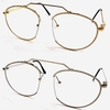CLEAR LENS FLAT FRAMES FUNKY SHAPE GLASSES