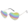 HEART SHAPE SUNGLASSES WITH RAINBOW REVO LENS