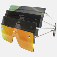 FLAT SHIELD RECTANGLE SHAPE SUNGLASSES