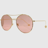 ROUND LOOK SUNGLASSES, metal ball end of arms,