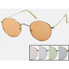 COLOR LENS, GOLD METAL FRAMES SUNGLASSES