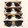 SOHO STYLE WOOD LOOKING ARMES, DARK LENS SUNGLASSES