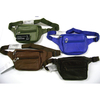 LEATHER FANNY PACKS, 4 COLORS, 3 ZIPPERS, U CAN PICK COLORS