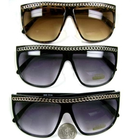 CHAIN LOOK ALONG TOP 80'S STYLE FRAMES SUNGLASSES