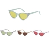 CAT EYE SHAPE GLITTER TIPS SUNGLASSES, COLOR LENSES
