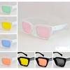 ASSORTED COLOR LENS, FUNKY A BIT SQUARISH SHAPE, WHT/BLK FRAMES