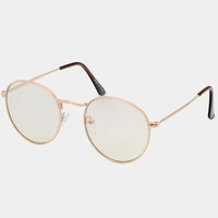 CLEAR LEN, METAL FRAMES RETRO LOOK SUNGLASSES