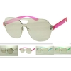 CLEAR MIRROR LENS COLOR ARMS, SHIELD LOOK SUNGLASSES