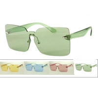 1 PIECES SQUARISH SHIELD COLOR SUNGLASSES