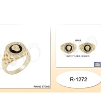 GOLD AND GEMS MEN RING, ASST SIZES