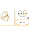 PEACE SIGN RING IN GOLD/SILVER -4 SIZES