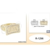 GOLD/SILVER MENS RINGS WITH GEM BORDER, ASST SIZES