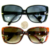 RETRO LADIES SUNGLASSES, NEW/OLD STOCK, BLACK/TORTOISE FRAMES