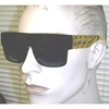 GOLD CHAIN LOOK ARMS RAPPER STYLE SUNGLASSES