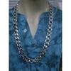 SILVER THICK PLASTIC CHAIN, 34 INCH LONG