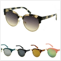 CAT SOHO ROUNDISH SUNGLASSES, ASST LENSES AND COLOR TOPS-COOL