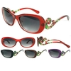 CURVED ARMS WITH PRINT DESIGN ASSORTED COLOR FRAMES SUNGLASSES