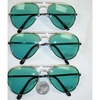 AVIATOR GREEN LENS SUNGLASSES ALL GOLD FRAMES