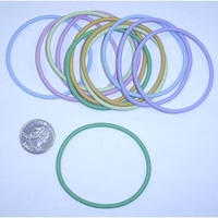 COIL SPRING PASTEL COLOR BRACELETS SETS(12 PIECE SETS)