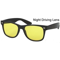 YELLOW LENS SMALLER BLUES BROTHER FRAMES ALL BLACK