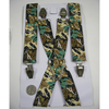 CAMO WOODLAND DESIGN WIDE SUSPENDERS.