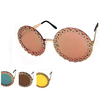 ROUND FLAT FRAMES ASSORTED LENSES W/ A GEAR LOOK AROUND EDGE