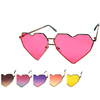 HEART SHAPE MORE ANGULAR FRAMES COLOR LENS SUNGLASSES