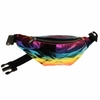 RAINBOW OIL SLICK LOOKING MATERIAL IRIDESCENT FANNY PACK