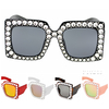 RECTANGULAR SHAPE FRAMES WITH GEMS AROUND FRAMES SUNGLASSES